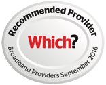 Which? magazine recommended provider for broadband